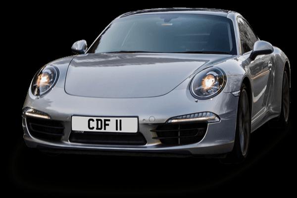 Personalised number plate car image